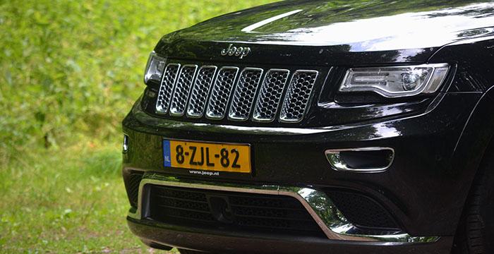 De nieuwe Jeep Grand Cherokee, cruisen op hoog niveau grill