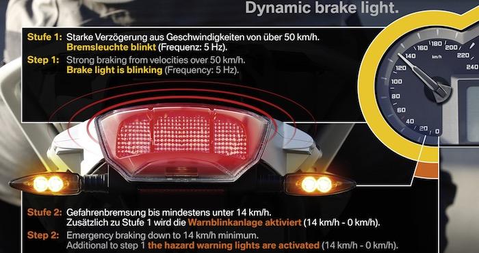 Dynamisch remlicht nu ook optioneel voor BMW motorfietsen Driving-Dutchman