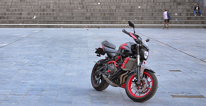 Yamaha MT-07 Moto Cage front