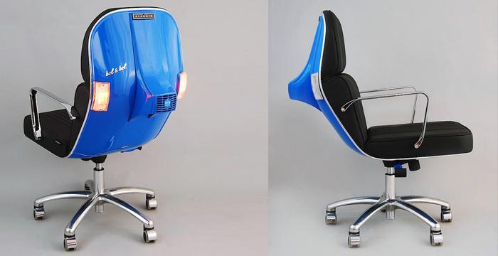 Oude vespa's worden prachtige stoelen 1