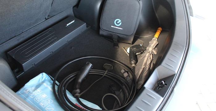 Nissan Leaf Driving-Dutchman bagageruimte
