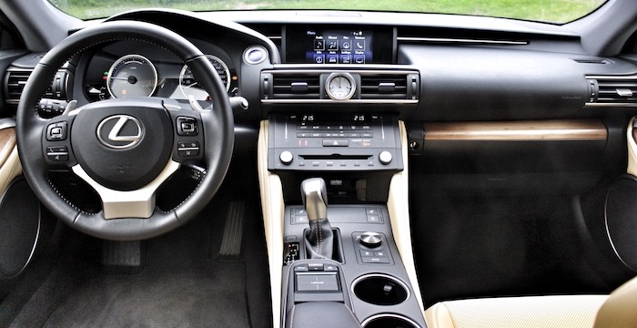 Lexus RC 300h Hybrid Driving-Dutchman dashboard