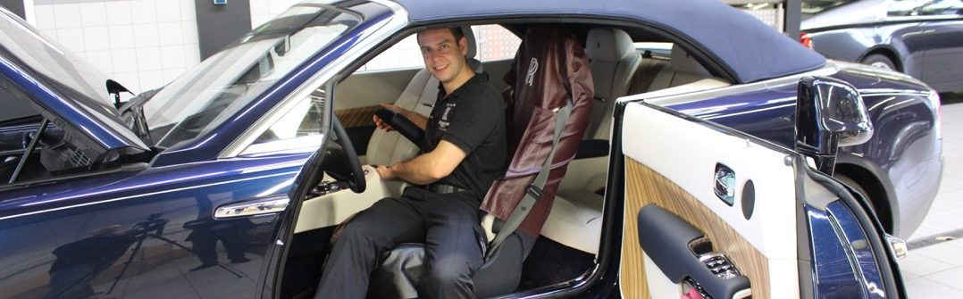 Rolls Royce Master Technician Frank van Dam Driving-Dutchman