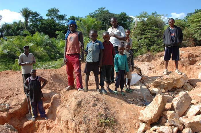 Mijnwerkers in Congo